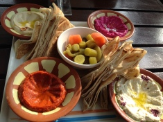 Breads and dips - yum!